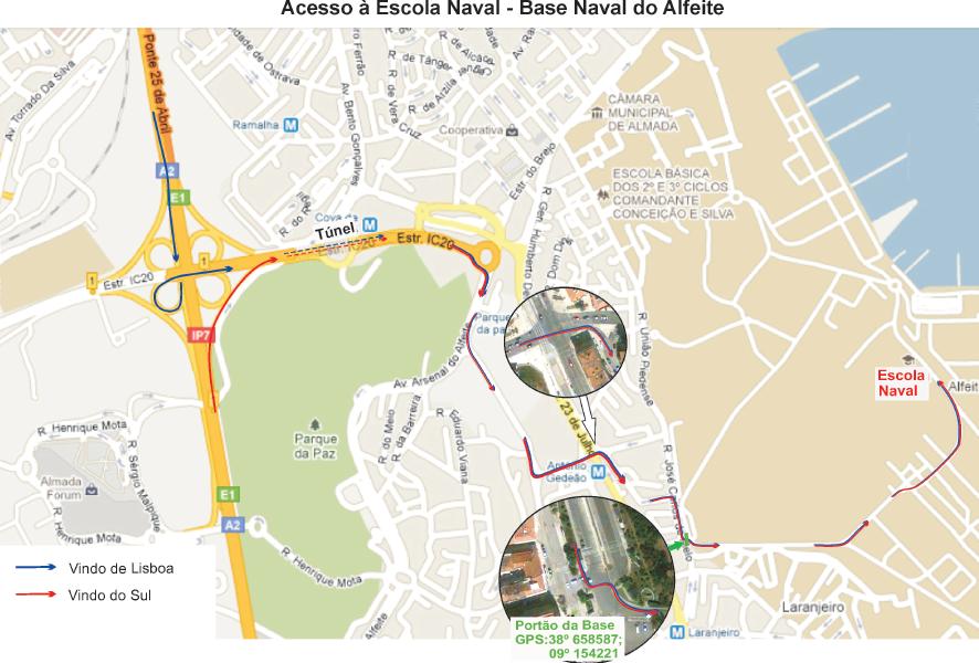 Mapa de acesso detalhado